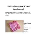 Sửa áo phông cũ thành áo khoác lửng cho con gái