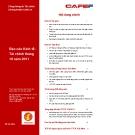 Báo cáo tài chính tháng 10/2011