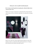 Kết hợp tím và đen trong thiết kế nội thất phòng tắm