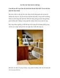 Góc làm việc thoải mái cho nhà hẹp