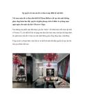 Sự quyến rũ của sắc đỏ và đen trong thiết kế nội thất