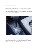 Cách dùng xe ô tô có số tự động