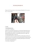 Bảo dưỡng hệ thống điện ôtô