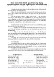 Giáo trình hình thành quy trình ứng dụng nguyên lý phản hồi giải ngân nguồn vốn từ lãi suất p1