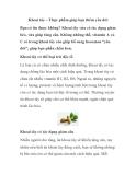 Khoai tây – Thực phẩm giúp bạn thêm yêu đời