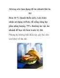 Không nên lạm dụng đồ ăn nhanh khi ôn thi
