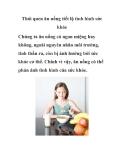 Thói quen ăn uống tiết lộ tình hình sức khỏe