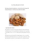 Top 10 thực phẩm giảm béo tốt nhất