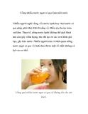 Uống nhiều nước ngọt có gas làm mất nước
