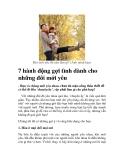 7 hành động gợi tình dành cho những đôi mới yêu