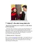 7 'chân lý' cần nhớ trong tình yêu