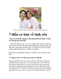 7 điều cơ bản về tình yêu