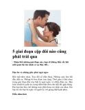 5 giai đoạn cặp đôi nào cũng phải trải qua