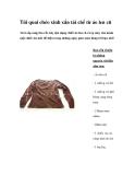 Túi quai chéo xinh xắn tái chế từ áo len cũ
