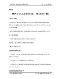 Bài 40  ĐỊNH LUẬT BOYLE – MARIOTTE