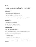 Bài 13  PHÉP TỔNG HỢP VÀ PHÂN TÍCH LỰC