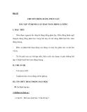 Bài 25 CHUYỂN ĐỘNG BẰNG PHẢN LỰC BÀI TẬP VỀ ĐỊNH LUẬT BẢO TOÀN ĐỘNG LƯỢNG