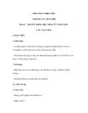 Bài 44. THUYẾT ĐỘNG HỌC PHÂN TỬ CHẤT KHÍ CẤU TẠO CHẤT