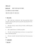 Bài 59 + 60 : HIỆN TƯỢNG QUANG ĐIỆN  CÁC ĐỊNH LUẬT QUANG ĐIỆN SÁNG