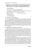 """Tóm tắt báo cáo nghiên cứu khoa học """" VAI TRÒ CỦA CÁC CHẤT ĐIỀU HÒA TĂNG TRƯỞNG THỰC VẬT TRÊN SỰ PHÁT SINH CƠ QUAN VÀ PHÁT SINH PHÔI SOMA Ở CHUỐI (Musa sp L.) VÀ KHOAI MÌ (Manihot esculenta Crantz) """""""
