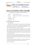 Công ty cổ phần NTACO - Báo cáo thường niên 2009