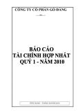 CÔNG TY CỔ PHẦN GÒ ĐÀNG - BÁO CÁO HỢP NHẤT ĐẦY ĐỦ - THÁNG 04 NĂM 2010