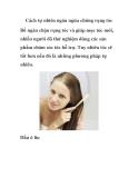 Cách tự nhiên ngăn ngừa chứng rụng tóc