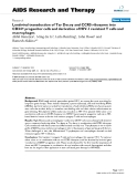 """Báo cáo y học: """" Lentiviral transduction of Tar Decoy and CCR5 ribozyme into CD34+ progenitor cells and derivation of HIV-1 resistant T cells and macrophages"""""""