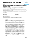 """Báo cáo y học: """"Assessing the effect of HAART on change in quality of life among HIV-infected women."""""""