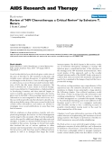 """Báo cáo y học: """" Review of """"HIV Chemotherapy: a Critical Review"""" by Salvatore T. Butera"""""""