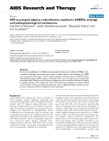 """Báo cáo y học: """"HIV-associated adipose redistribution syndrome (HARS): etiology and pathophysiological mechanisms"""""""