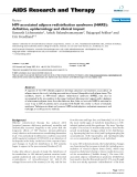 """Báo cáo y học: """"HIV-associated adipose redistribution syndrome (HARS): definition, epidemiology and clinical impact"""""""