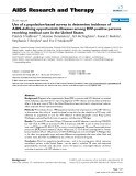 """Báo cáo y học: """"Use of a population-based survey to determine incidence of AIDS-defining opportunistic illnesses among HIV-positive persons receiving medical care in the United States"""""""