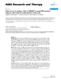 """Báo cáo y học: """"Assessment of quality of life in HAART-treated HIV-positive subjects with body fat redistribution in Rwanda"""""""