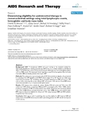 """Báo cáo y học: """"Determining eligibility for antiretroviral therapy in resource-limited settings using total lymphocyte counts, hemoglobin and body mass index"""""""