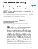 """Báo cáo y học: """" Safety and efficacy of a generic fixed-dose combination of stavudine, lamivudine and nevirapine antiretroviral therapy between HIV-infected patients with baseline CD4 """""""