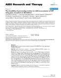 """Báo cáo y học: """" The feasibility of preventing mother-to-child transmission of HIV using peer counselors in Zimbabwe"""""""