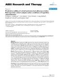 """Báo cáo y học: """" Predictive validity of a brief antiretroviral adherence index: Retrospective cohort analysis under conditions of repetitive administration"""""""