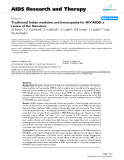 """Báo cáo y học: """" Traditional Indian medicine and homeopathy for HIV/AIDS: a review of the literature"""""""