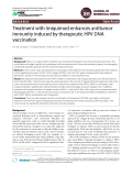 Treatment with Imiquimod enhances antitumor immunity induced by therapeutic HPV DNA vaccination