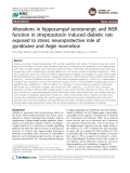 """Báo cáo y học: """" Alterations in hippocampal serotonergic and INSR function in streptozotocin induced diabetic rats exposed to stress: neuroprotective role of pyridoxine and Aegle marmelose"""""""