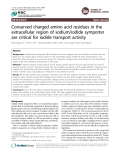 """Báo cáo y học: """" Conserved charged amino acid residues in the extracellular region of sodium/iodide symporter are critical for iodide transport activity"""""""