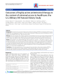 "Báo cáo y học: ""Outcomes of highly active antiretroviral therapy in the context of universal access to healthcare: the U.S. Military HIV Natural History Study"""