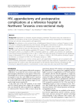 "Báo cáo y học: ""HIV, appendectomy and postoperative complications at a reference hospital in Northwest Tanzania: cross-sectional study"""