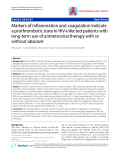 """Báo cáo y học: """"Markers of inflammation and coagulation indicate a prothrombotic state in HIV-infected patients with long-term use of antiretroviral therapy with or without abacavir"""""""