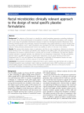 """Báo cáo y học: """" Rectal microbicides: clinically relevant approach to the design of rectal specific placebo formulations."""""""