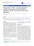 """Báo cáo y học: """" Management of HIV-1 associated hepatitis in patients with acquired immunodeficiency syndrome: role of a successful control of viral replication"""""""