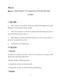 GIÁO ÁN MÔN LÝ: Bài 1 – 2. CHUYỂN ĐỘNG CỦA VẬT RẮN QUAY QUANH MỘT TRỤC CỐ ĐỊNH