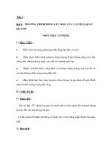 GIÁO ÁN MÔN LÝ: Bài 4. PHƯƠNG TRÌNH ĐỘNG LỰC HỌC CỦA VẬT RẮN QUAY QUANH MỘT TRỤC CỐ ĐỊNH