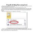 Bí quyết sử dụng Macro trong Excel